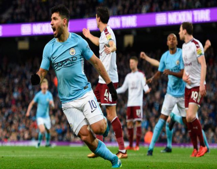 Aguero lifts City in FA Cup, Hughes' Stoke crash